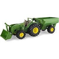 "John Deere 8"" Toy Tractor w/ Wagon $10 + Free Store Pickup"