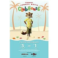 Cinemark Summer Movie Clubhouse: Kids & Family Movies: 10-Movies $5 or $1 each (participating locations)