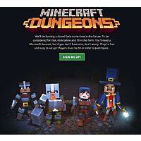 Minecraft: Dungeons Closed Beta Sign-up (Free) Image