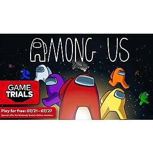 Among Us (Nintendo Switch Digital Download) for $3.50 on 7/21; Nintendo Switch Online Members Can Play for Free from 7/21 - 7/27