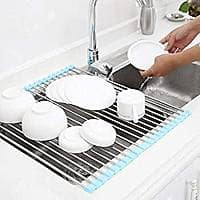 Roll Up Dish Drying Rack Over the Sink Foldable Drainer for Kitchen - $9.99 + FS w/ Prime or Orders $25+