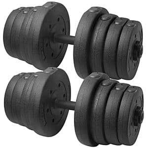 Pair of SmileMart 66lb Adjustable Dumbbell Set $59.99 + Free Shipping