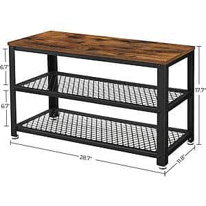 VASAGLE Shoe Rack & Shoe Bench made of Steel/Wood from $41.99 + Free Shipping
