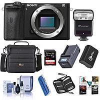 Sony Alpha a6600 Mirrorless Camera Body w/ Flash Accessory Bundle $1198 & More + Free S&H