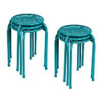 Kohl's Cardholders: 6-Pc Atlantic Daisy Stackable Stool Set (turquoise) $28 + Free Shipping
