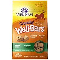 20-Oz Wellness Natural Wellbars Crunchy Dog Treats w/ Lamb & Apples $5.40 w/ S&S + Free Shipping w/ Amazon Prime