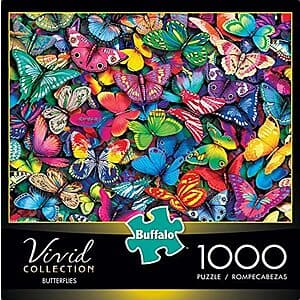 1,000-Pc Buffalo Games Vivid Collection Butterflies Jigsaw Puzzle $7.70 + Free Shipping w/ Amazon Prime or Orders $25+