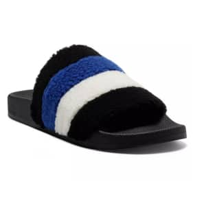 INC International Concepts Women's Paymin Faux Shearling Pool Slides $10 + 6% Slickdeals Cashback + Free Store Pickup at Macy's or FS on $25+