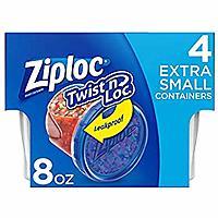 24-Count 8oz Ziploc Twist N Loc (Extra Small) $2.57 + Free Store pickup at walmart