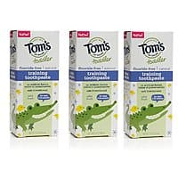 3-Ct 1.75oz Tom's of Maine Toddlers Fluoride-Free Natural Toothpaste (Mild Fruit) $5.40 w/ S&S + Free S&H