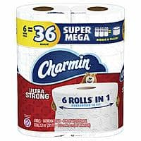 *live again* 36-Count Charmin Ultra Strong Toilet Paper (Super Mega Rolls) $36.58 w/ S&S + Free S&H