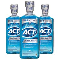 33.8-Oz ACT Restoring Anticavity Mouthwash (Mint Burst) 3 for $10.98 ($3.66 each) + Free Shipping w/ Prime or on $25+ (Select accounts: $3 Digital Credit w/ No-Rush Shipping)
