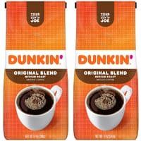 12-Oz Dunkin Donuts Medium Roast Ground Coffee (Original Blend) 2 for $8.40 w/ Subscribe & Save & More