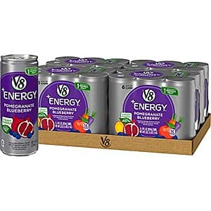 24-Pack 8-Oz V8 +Energy Drinks (Pomegranate Blueberry) $11.14 w/ S&S + Free Shipping w/ Prime or $25+