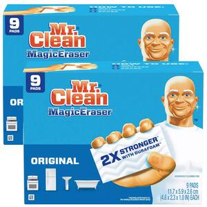 9-Count Mr. Clean Magic Eraser Cleaning Pads w/ Durafoam (Original) 2 for $9.75 w/ S&S + Free Shipping w/ Prime or on $25+