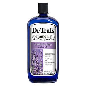 34-Oz Dr Teal's Foaming Bath w/ Epsom Salt (Soothe & Sleep w/ Lavender) $3.42 + Free Shipping w/ Prime or on $25+