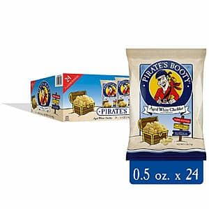 24-Count 0.5-Oz Pirate's Booty Cheese Puffs (Real Aged White Cheddar) $6.38 w/ S&S + Free Shipping w/ Prime or on $25+
