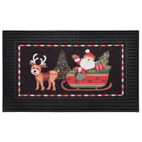 "18"" x 30"" Natco Santa's Showtime LED Light & Sound Doormat $18 & More + Free Store Pickup"