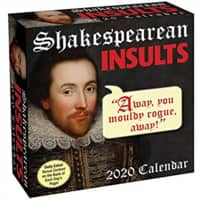 Shakespearean Insults 2020 Day-To-Day Calendar $8