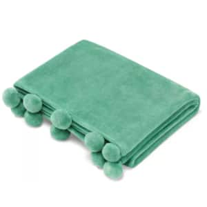 """70"""" x 50"""" Vera Wang Pom Pom Throw (2 colors) $15 & More + Free Store Pickup at Macy's or FS on $25+"""