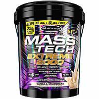 MuscleTech Mass Tech Extreme Mass Gainer Whey Protein Powder - Vanilla Milkshake, 22lbs (10kg)  $22.49