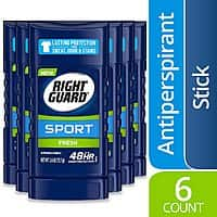 6-Count 2.6-Oz Right Guard Sport Men's Antiperspirant Deodorant $8.55 w/ S&S + Free Shipping w/ Prime or on $25+