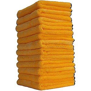 """Prime Members: 12-Pack Chemical Guys 16""""x16"""" Professional Grade Premium Microfiber Towels $13.44 + Free Shipping"""
