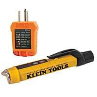 Klein Tools Non-Contact Voltage Tester with Flashlight and Outlet Tester Set (2-Piece) $19.88 @ Home Depot