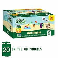 GoGo squeeZ Applesauce on the Go, Variety Pack , Unsweetened, Recloseable, 20 pack $8.3