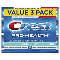 Crest Pro-Health Smooth Formula Toothpaste, Clean Mint, 4.6 oz, 3 Count - Amazon - $4.16 with 5+ S&S