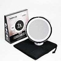 7x Magnifying Lighted Makeup Mirror. Warm LED Tap Light Bathroom Vanity Mirror $  27.99