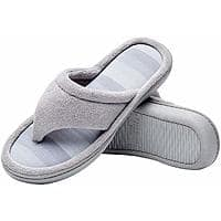 Women's Microfiber Gradational Color Knit Thong Slippers, Textured Memory Foam Spa Flip-Flops $6.75