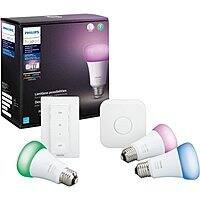 Philips Hue White & Color Ambiance LED Starter Kit $120 + Free Shipping