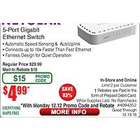 Netgear 5-port GbE Switch $  5AR @frys (starts 12/12 w/emailed code)  Plantronics M70 Headset $  15; 16GB Patriot Viper 3 DDR3 1600 RAM kit $  70AC