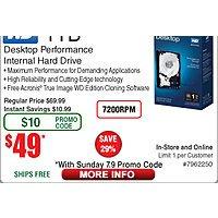 1TB WD Black Hard Drive Boxed $  49 (w/emailed code)Logitech M720 Triathlon Wireless Optical Mouse $  30; Enermax Ostrog ADV Advance Tower Case $  60AR