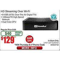 SiliconDust HDHomeRun Extend HDTC-2US-M HD Streaming Player $  129@Frys (w/emailed code) OOS for ship