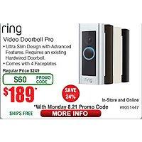 Ring Video Doorbell Pro $  189 (e/emailed code) also Video Doorbell 2 $  199