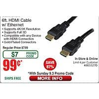 6-ft Inland Pro HT HDMI Cable $  0.99 (w/emailed code starts 9/3)  Gigabyte GTX 1060 3GB Video Card $  194
