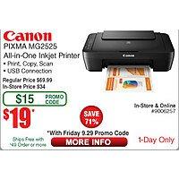 Canon Pixma MG2525 AIO Printer (w/emailed code 9/29) $  19