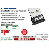 Asus USB-BT400 Bluetooth 4.0 USB Adapter $  2AR @Frys (1/19)