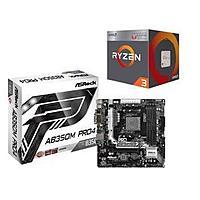 AMD RYZEN 3 2200G Quad-Core APU + ASRock AB350M Pro4 AM4 Motherboard $130 AR @Newegg