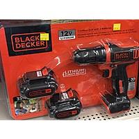 Black & Decker 12V MAX* Drill with 2 Batteries Model BDCD112-2WM - $25 - B&M YMMV Walmart