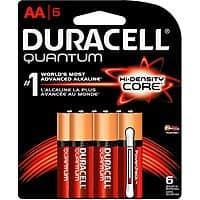 Duracell Quantum AA Alkaline Batteries - 6 count - $1.50 at Amazon + FS with Prime