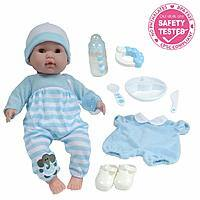 Berenguer Boutique 15-in. Soft Body Baby Doll - Blue 10 Piece Gift Set with Open/Close Eyes- Perfect for Children 2 - $15.46 at Amazon + FS with Prime
