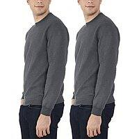 Fruit of the Loom Men's Crew Sweatshirt (2 Pack) - $11.88 at Amazon + FS with Prime