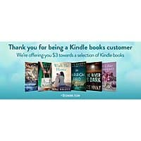 Free $  3 towards a selection of Kindle books (YMMV)