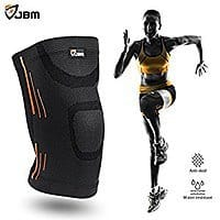 JBM Adult GYM Knee Braces Support Compression Sleeve Patella Wrap Band Knee Stabilizer Safe Pain Relief for Weightlifting Power Lifting Fitness Exercise Badminton Running: $  4.98