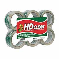 Duck HD Clear Heavy Duty Packaging Tape Refill, 6 Rolls, 1.88 Inch x 54.6 Yards $10 or less @ Amazon w/ S&S $8.49
