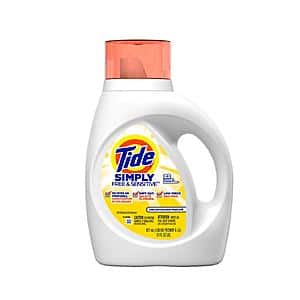 Walgreens: Tide Simply Free & Sensitive Liquid Laundry Detergent, Unscented 31 fl oz for $1.99
