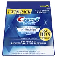 Crest 3D White Professional Effects Whitestrips Teeth Whitening Strips Kit, 40 Treatment Twin Pack (80 Whitestrips total) Free 2 day shipping @ Walmart for 44.88